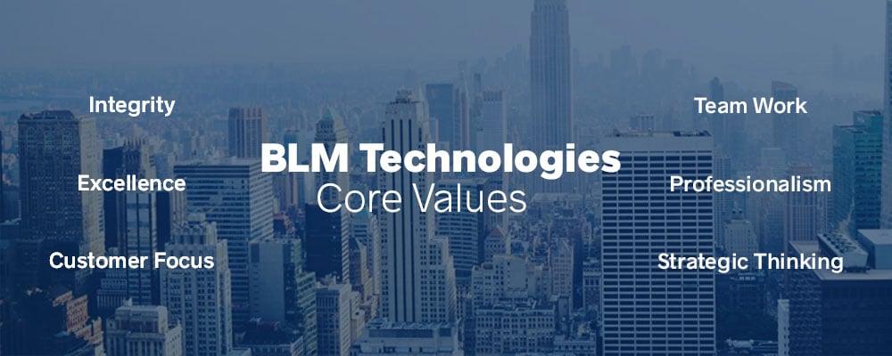 BLM Technologies Core Values