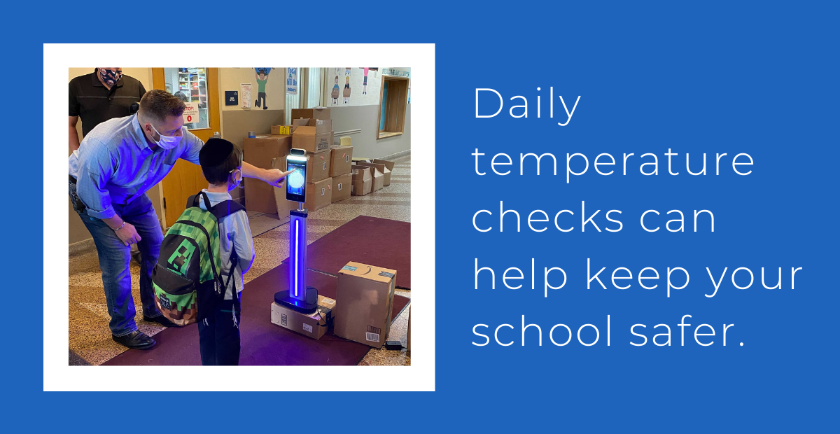 K-12 automatic body temperature scanning